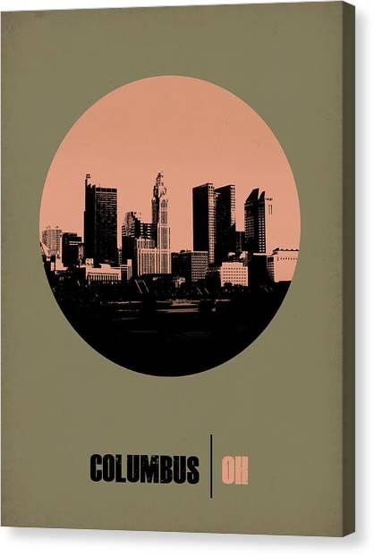 Ohio Canvas Print - Columbus Circle Poster 1 by Naxart Studio