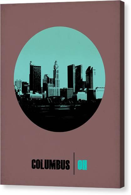 Ohio Canvas Print - Columbus Circle Poster 2 by Naxart Studio