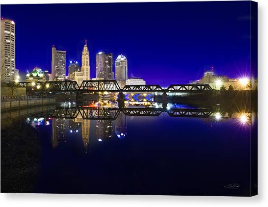 Columbus - City Reflection Canvas Print