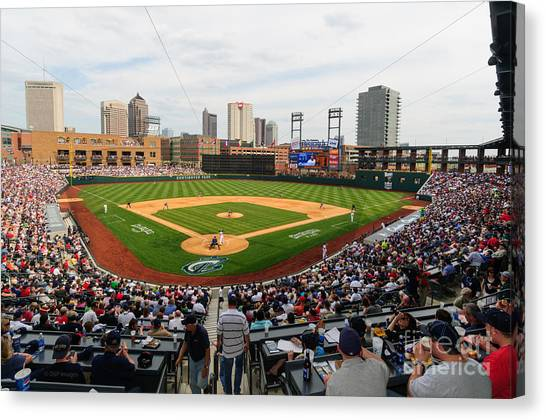 D24w-295 Columbus Clippers Photo Canvas Print