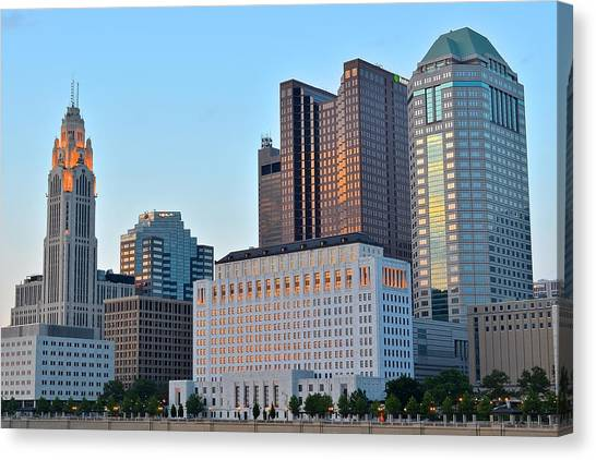 Cleveland State University Canvas Print - Columbus Close Up by Frozen in Time Fine Art Photography