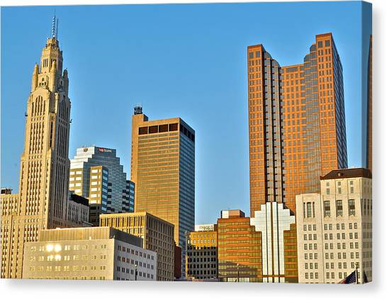 Jack Nicklaus Canvas Print - Columbus Ohio From Below by Frozen in Time Fine Art Photography
