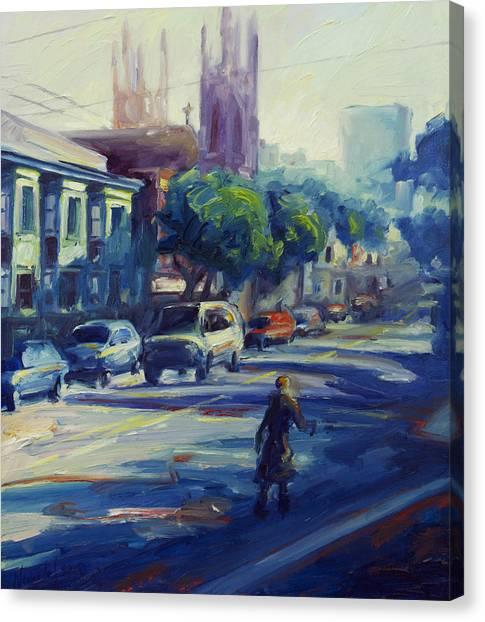 Columbus Street Canvas Print