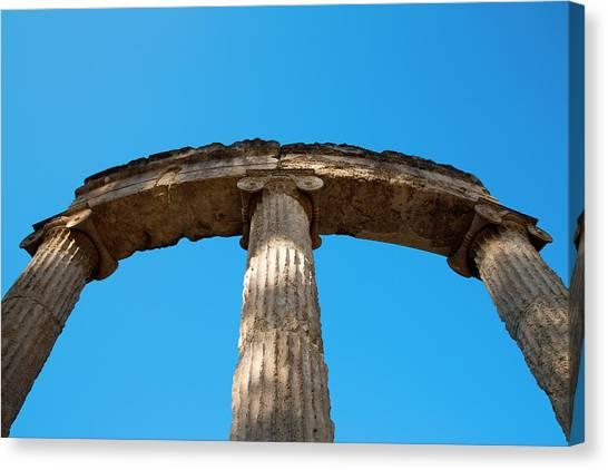 Columns At Ancient Olympia Canvas Print