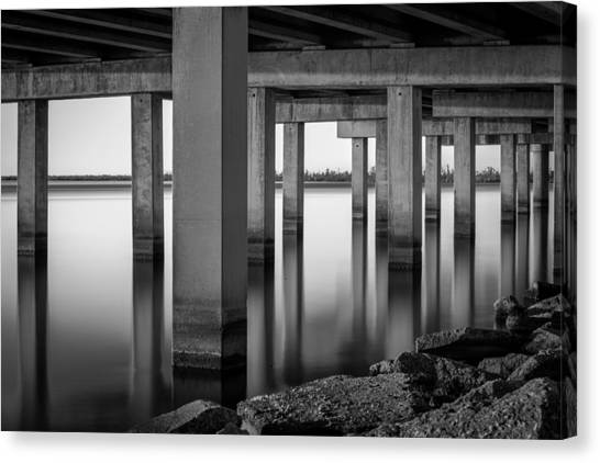 Interstates Canvas Print - Columns by Brad Monnerjahn