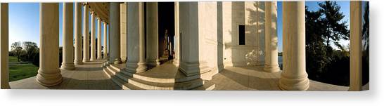 Jefferson Memorial Canvas Print - Columns Of A Memorial, Jefferson by Panoramic Images