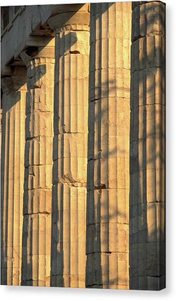 Columns Of The Parthenon, Considered Canvas Print
