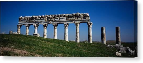 Syrian Canvas Print - Columns On A Landscape, Apamea, Syria by Panoramic Images