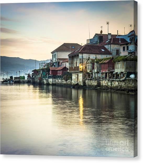 Combarro Pontevedra Galicia Spain Canvas Print