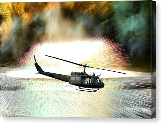 Choppers Canvas Print - Combat Helicopter by Olivier Le Queinec