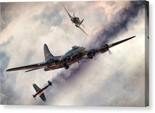 United States Army Air Corps Canvas Print - Combat Skies by Peter Chilelli