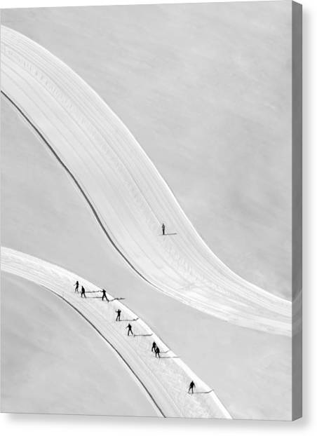 Aerial Canvas Print - Come On Boys... by
