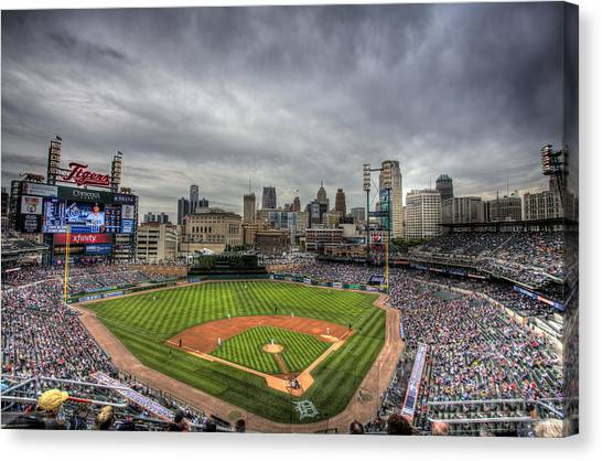 Detroit Canvas Print - Comerica Park Home Of The Tigers by Shawn Everhart