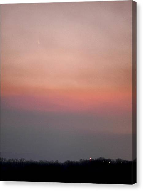 Fire Ball Canvas Print - Comet Panstarrs by Jason Politte