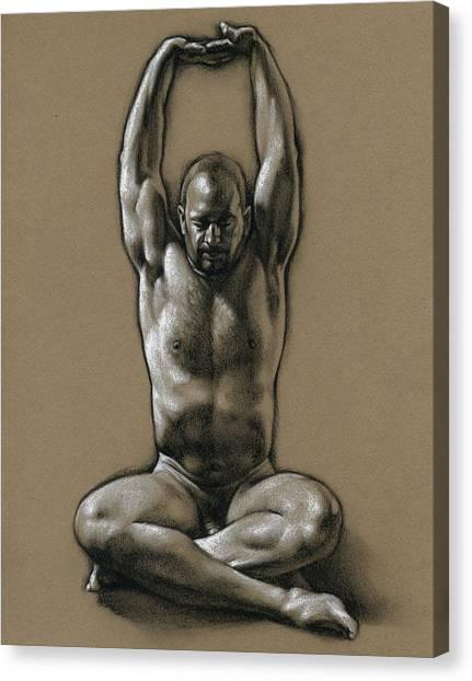 Yoga Canvas Print - Comfort 2 by Chris Lopez