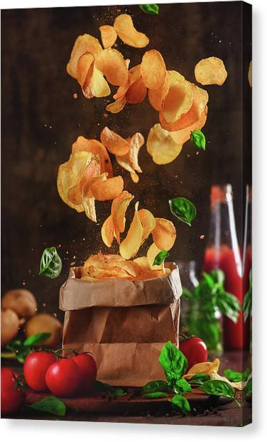 Tornadoes Canvas Print - Comfort Food For Stormy Weather by Dina Belenko