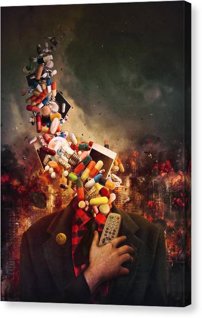 Humans Canvas Print - Comfortably Numb by Mario Sanchez Nevado