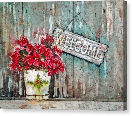 A Warm Welcome Canvas Print