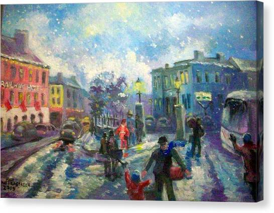 Coming Home For X Mas Canvas Print