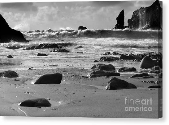 Coming In Waves Canvas Print