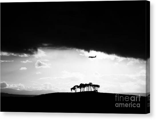 Thunderclouds Canvas Print - Coming Into Land  by Tim Gainey