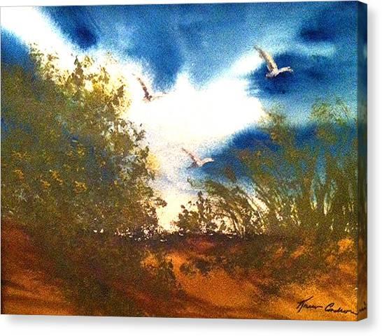 Coming Of Spring Canvas Print by Karen  Condron