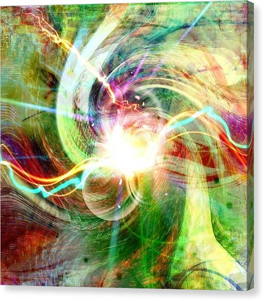 Video Games Canvas Print - Coming Out Of The Dimensional Gate by Urbane Alien