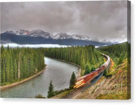 Coming 'round The Bend' Canvas Print