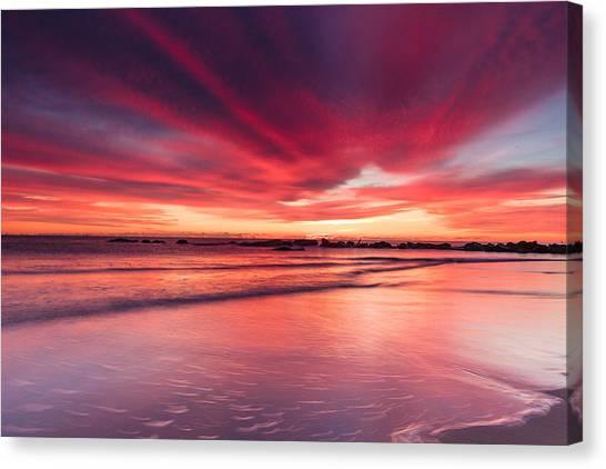 Coming Soon Sunrise At Hampton Beach Canvas Print