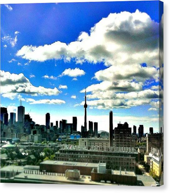 Toronto Skyline Canvas Print - Coming To Uoft Every Morning For This by Niroja Tharmakulasingham