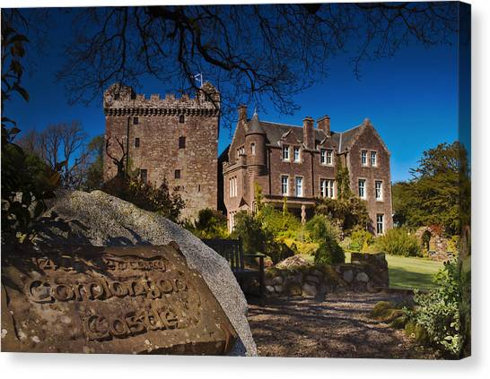 Comlongon Castle Canvas Print