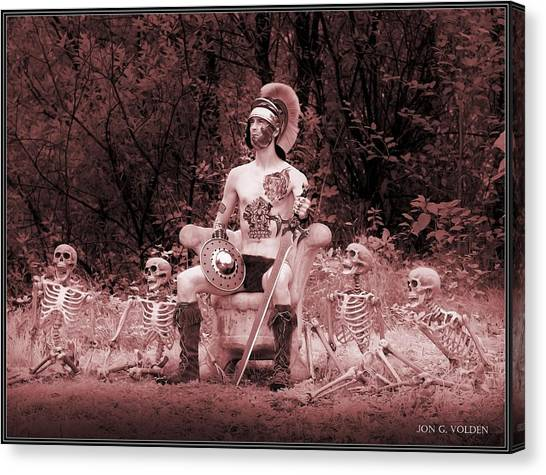 Commander On The Killing Fields Canvas Print