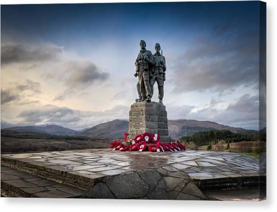 Commando Memorial At Spean Bridge Canvas Print