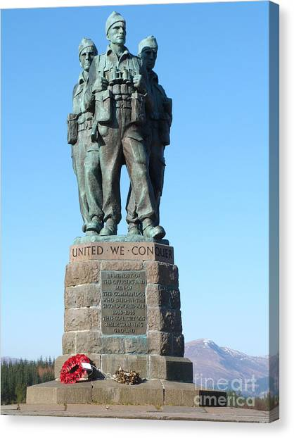 Royal Marines Canvas Print - Commando Memorial - Spean Bridge by Phil Banks