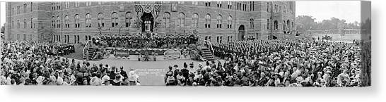 Big East Canvas Print - Commencement Georgetown University by Fred Schutz Collection