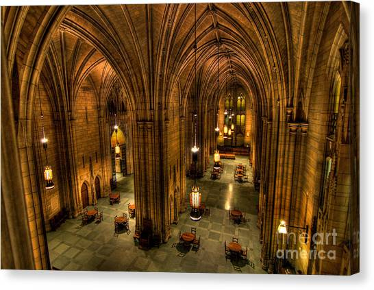 Oakland University Canvas Print - Commons Room Cathedral Of Learning University Of Pittsburgh by Amy Cicconi