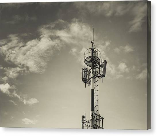 Tv Tower Canvas Print - Communication Tower by Marco Oliveira