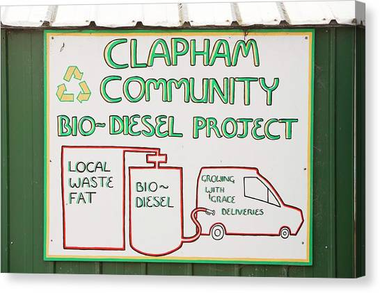 Local Food Canvas Print - Community Biodiesel Project by Ashley Cooper
