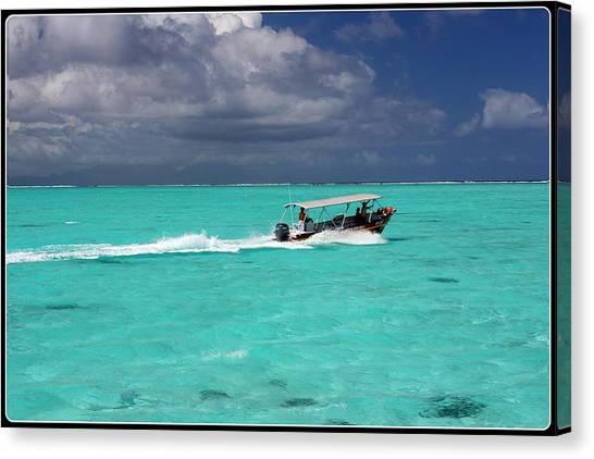 Commute Of Bora Bora  Canvas Print by Nick Difi