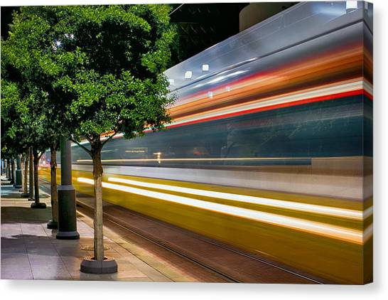 Dallas Commuter Train 052214 Canvas Print