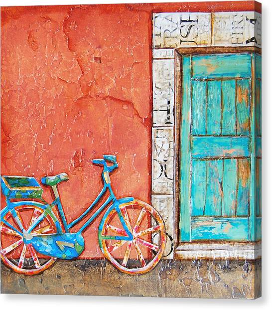 Bicycle Canvas Print - Commuter's Dream by Danny Phillips