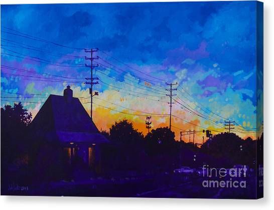 Commuter's Sunset Canvas Print