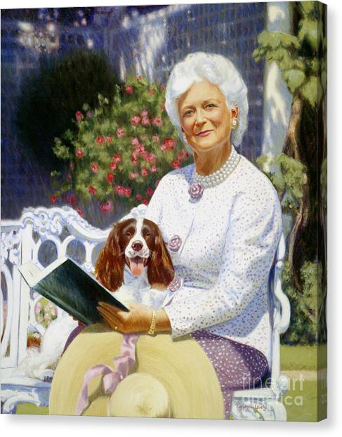 George Bush Canvas Print - Companions In The Garden by Candace Lovely