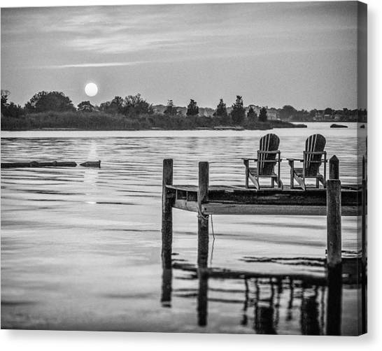 Canvas Print featuring the photograph Company At Sunset by Steve Stanger