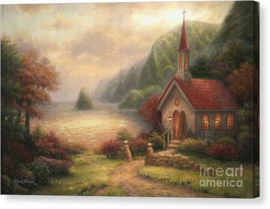 Saints Canvas Print - Compassion Chapel by Chuck Pinson