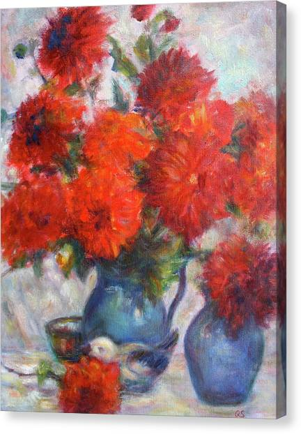 Complementary - Original Impressionist Painting - Still-life - Vibrant - Contemporary Canvas Print