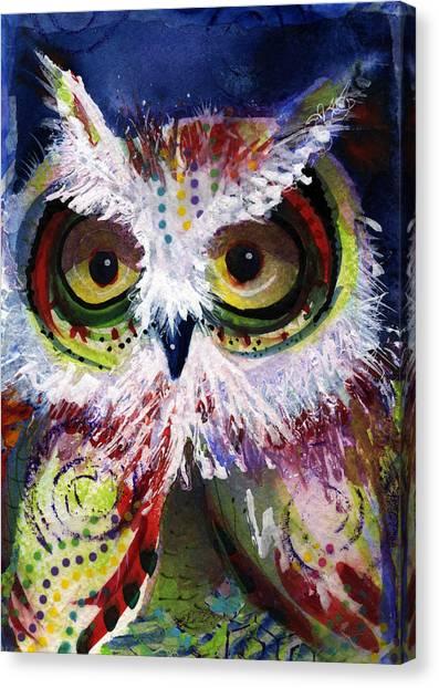 Complimentary Owl Canvas Print