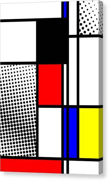 Composition 100 Canvas Print