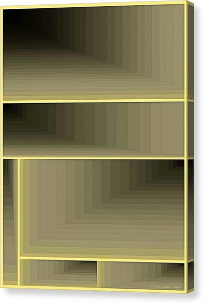 Abstract Design Canvas Print - Composition 67 by Terry Reynoldson