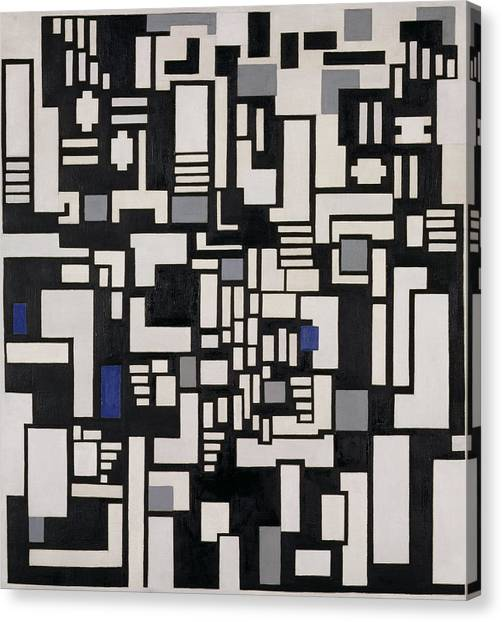 De Stijl Canvas Print - Composition Ix, Opus 18, 1917 by Theo van Doesburg